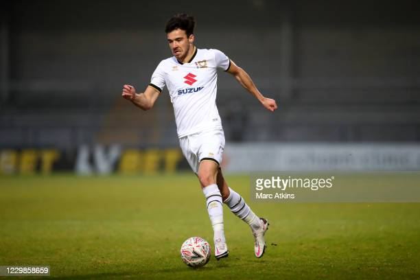 Scott Fraser of MK Dons during the Emirates FA Cup Second Round match between Barnet FC and Milton Keynes Dons at The Hive London on November 29,...