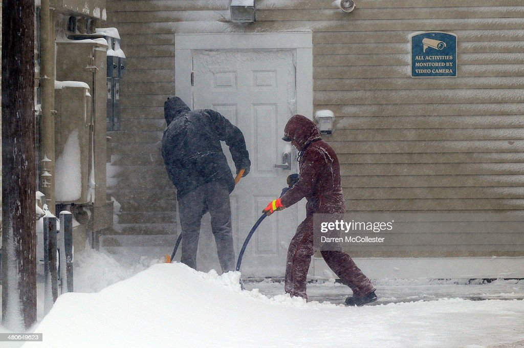 Massive Spring Snowstorm Off Coast Of Northeast Brings Snow To Cape : News Photo