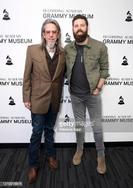 Scott Goldman and Jordan Davis attend Jordan Davis at the GRAMMY Museum on March 02 2020 in Los Angeles California
