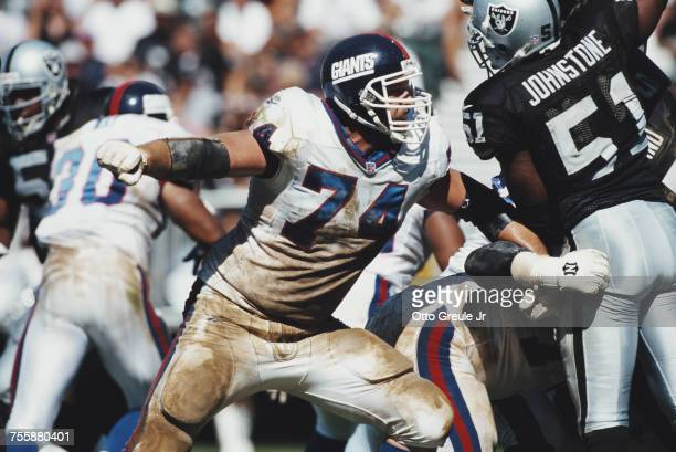 Scott Gragg, Offensive Tackle for the New York Giants during the American Football Conference West game against the Oakland Raiders on 13 September...
