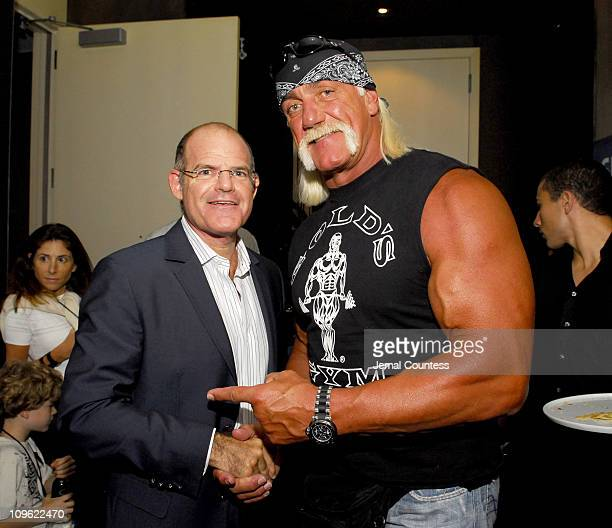 Scott Greenstein and Hulk Hogan during Sirius Suites Produced by On 3 Productions Day 2 at W HotelTimes Square in New York City New York United States
