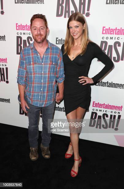 Scott Grimes and Adrianne Palicki attend Entertainment Weekly's ComicCon Bash held at FLOAT Hard Rock Hotel San Diego on July 21 2018 in San Diego...