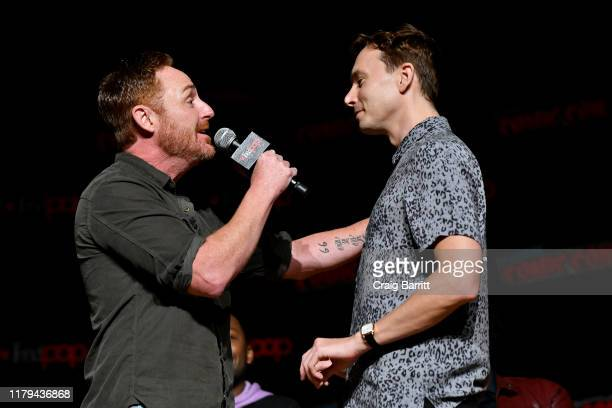 Scott Grimes and Mark Jackson speak on stage during Hulu's The Orville at New York Comic Con 2019 Day 4 at Jacob K Javits Convention Center on...