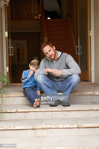 Scott Grimes at Home with Son