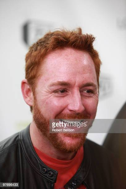 Scott Grimes from Band with TV talks with media at the grand opening of Loehmann's in Costa Mesa on March 13, 2010 in Costa Mesa, California.