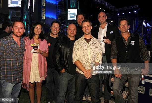 Scott Grimes, Greg Grunberg, Michael Chiklis, Bob Guiney, Jesse Spencer and James Denton attend the Breeders' Cup Winners Circle Event held at ESPN...
