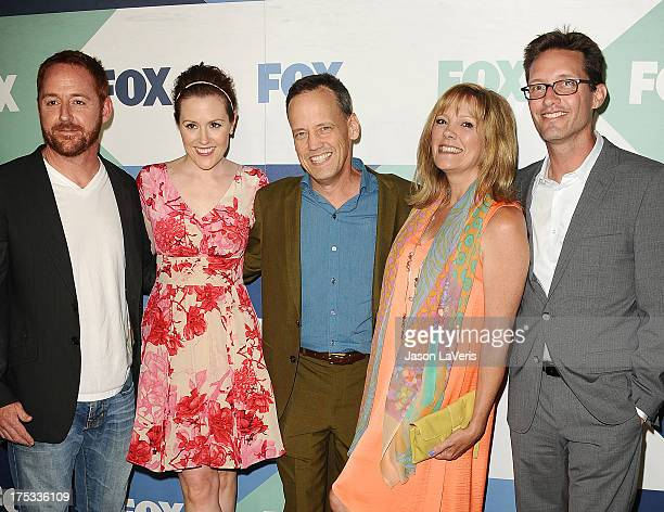 Scott Grimes, Rachael MacFarlane, Dee Bradley Baker, Wendy Schaal, and Mike Barker attend the FOX All-Star Party on August 1, 2013 in West Hollywood,...