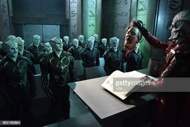 """Scott Grimes, Seth MacFarlane and guest star James Horan in the """"Krill"""" episode of THE ORVILLE airing Thursday, Oct. 12 on FOX."""