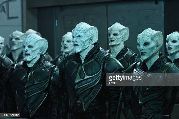"""Scott Grimes, Seth MacFarlane and guest star Michaela McManus in the """"Krill"""" episode of THE ORVILLE airing Thursday, Oct. 12 on FOX."""