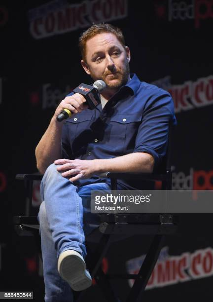 Scott Grimes speaks during The Orville panel during 2017 New York Comic Con on October 6, 2017 in New York City.