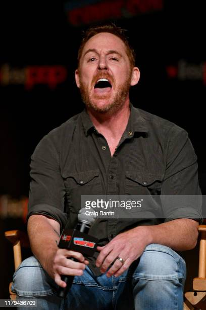 Scott Grimes speaks on stage during Hulu's The Orville at New York Comic Con 2019 Day 4 at Jacob K Javits Convention Center on October 06 2019 in New...