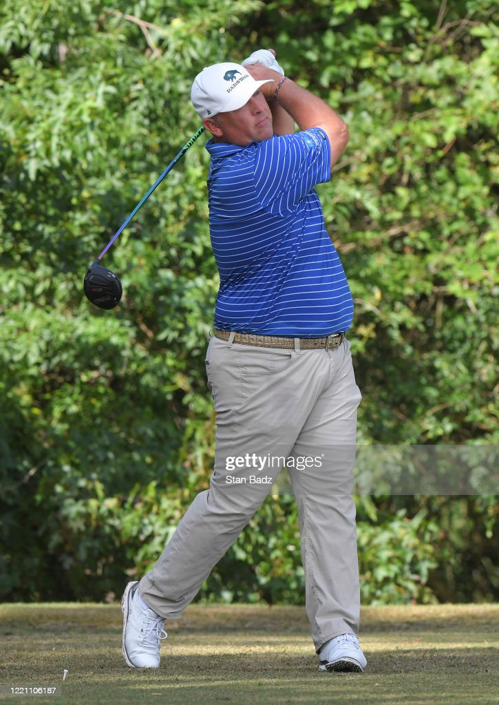 Scott Gutschewski plays a tee shot on the second hole during the ...