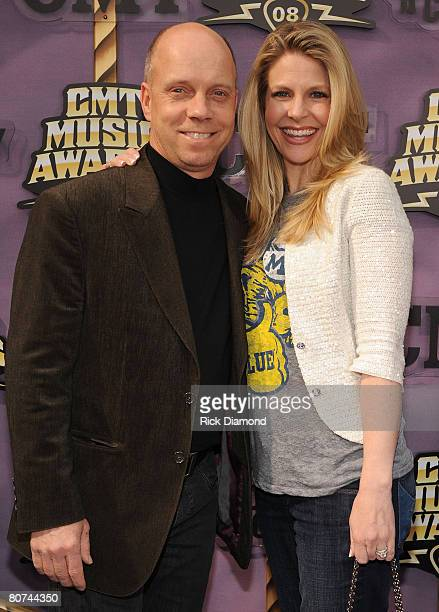 Scott Hamilton and Tracie Hamilton attend the 2008 CMT Music Awards at Curb Event Center at Belmont University on April 14 2008 in Nashville Tennessee
