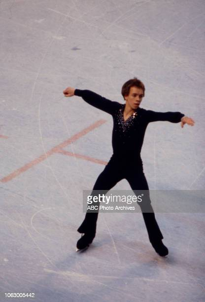 Scott Hamilton competing in the Men's figure skating event at the 1980 Winter Olympics / XIII Olympic Winter Games Olympic Center