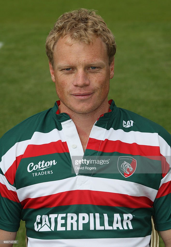 Scott Hamilton of Leicester Tigers poses for a portrait at Oadby Oval on August 25, 2009 in Leicester, England.
