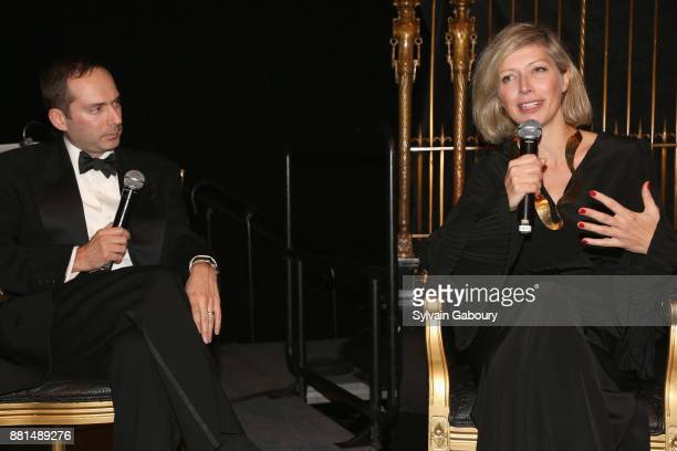 Scott Handler and AnneClaire Legendre attend French American Foundation Annual Gala 2017 at Gotham Hall on November 28 2017 in New York City