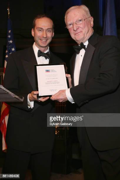 Scott Handler and Anthony Smith attend French American Foundation Annual Gala 2017 at Gotham Hall on November 28 2017 in New York City
