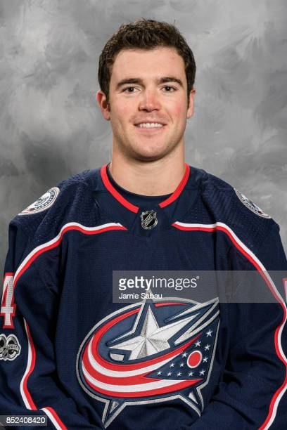 Scott Harrington of the Columbus Blue Jackets poses for his official headshot for the 201718 season on September 14 2017 at Nationwide Arena in...