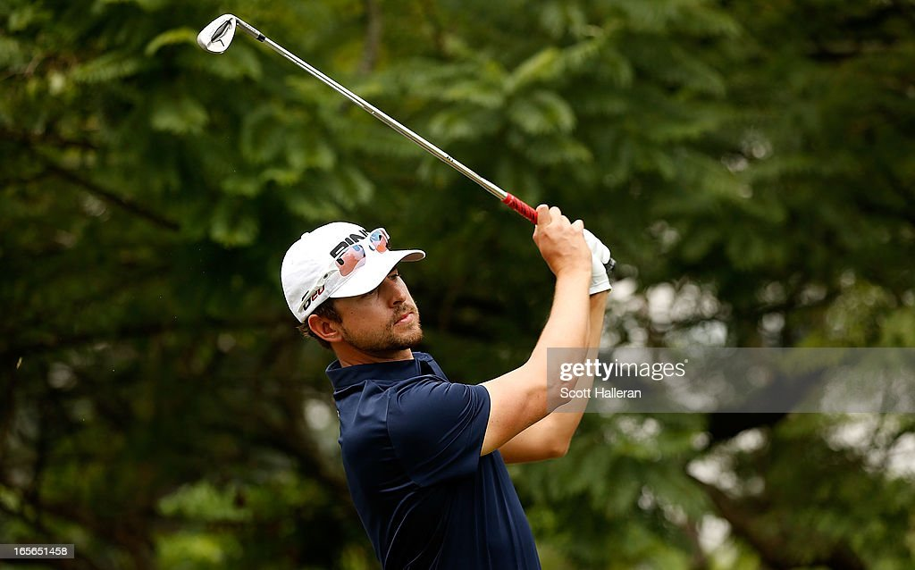 Scott Harrington of the USA hits a shot during the pro-am at the Sao Paulo Golf Club prior to the start of the Brasil Classic Presented by HSBC on April 3, 2013 in Sao Paulo, Brazil.