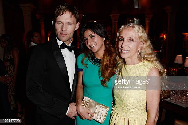 Scott Haze Elissa Shay and Franca Sozzani attend the Bungalow 8 James Franco Venice Film Festival Premiere Party for Child of God and Palo Alto...