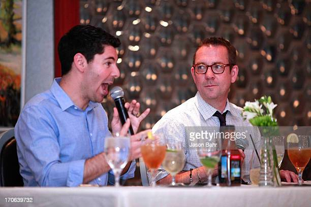 Scott Heimendinger and Ted Allen field questions during the Pure Leaf Science of Pairings lunch at the FOOD WINE Classic on June 15 2013 in Aspen...