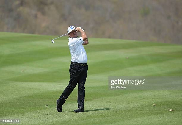 Scott Hend of Australia in action during the third round of the 2016 True Thailand Classic at Black Mountain Golf Club on March 12 2016 in Hua Hin...