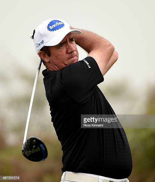 Scott Hend of Australia on the par five 7th hole during the final round of the BMW Masters at Lake Malaren Golf Club on November 15 2015 in Shanghai...