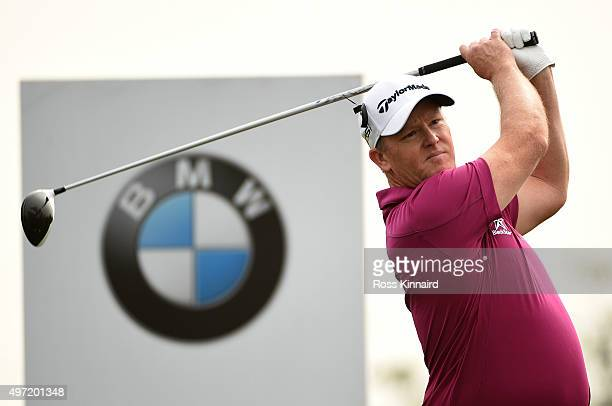 Scott Hend of Australia on the par four 5th hole during the final round of the BMW Masters at Lake Malaren Golf Club on November 15 2015 in Shanghai...