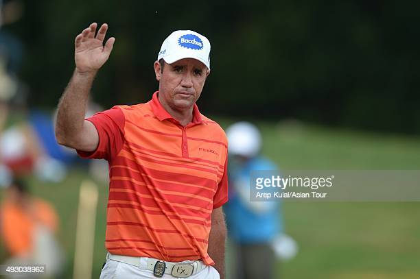 Scott Hend of Australia pictured during round three of the Venetian Macao Open at Macau Golf and Country Club on October 17 2015 in Macau Macau