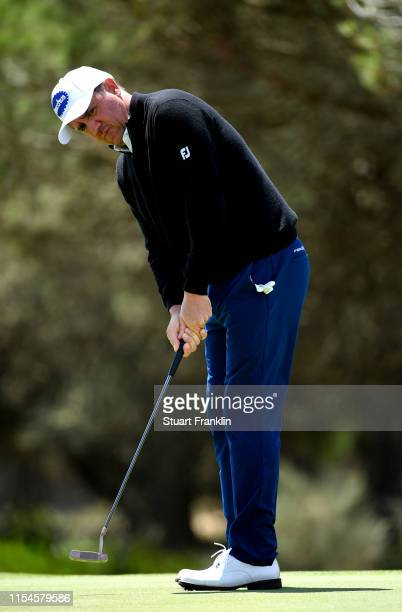 Scott Hend of Australia putts on the second green during Day Two of the GolfSixes at Oitavos Dunes on June 08 2019 in Cascais Portugal