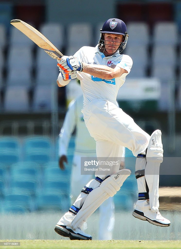 Scott Henry of Chairman's XI bats during day one of the international tour match between the Chairman's XI and Sri Lanka at Manuka Oval on December 6, 2012 in Canberra, Australia.