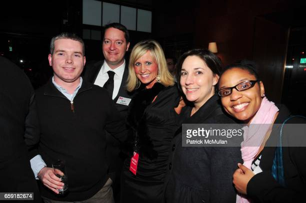 Scott Hensen Kyle Kusche Natalie Bushaw Amy Kule and Yadira Harrison attend DELTA SKY Magazine launch party at Whiskey Park on February 23 2009 in...