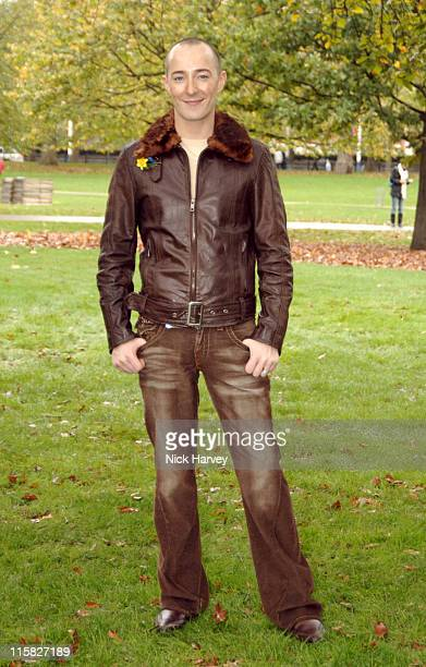 Scott Henshall during Marie Curie Cancer Care Field of Hope Supported by Designer Scott Henshall at St James Park in London Great Britain