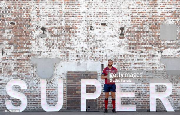 Scott Higginbotham of the Reds poses for a photo during the 2018 Super Rugby Season Launch at Brisbane Powerhouse on February 11 2018 in Brisbane...