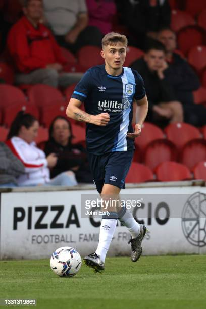 Scott High of Huddersfield Town during the pre-season friendly between Fleetwood Town and Huddersfield Town at Highbury Stadium on July 27, 2021 in...