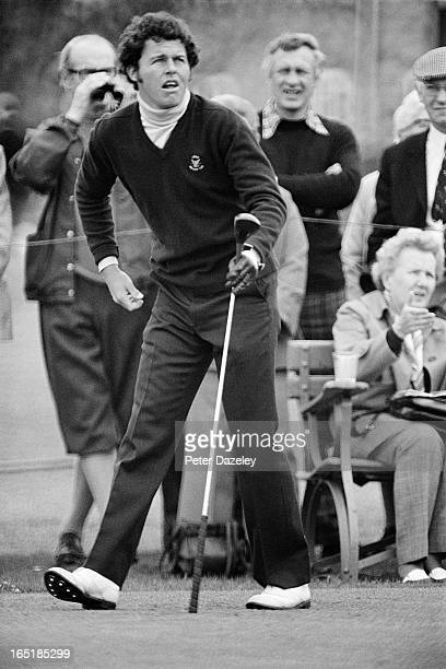 Scott Hoch of the United States Team during the final day of the 1979 Walker Cup Matches at the Honourable Company of Edinburgh Golfers Muirfield on...