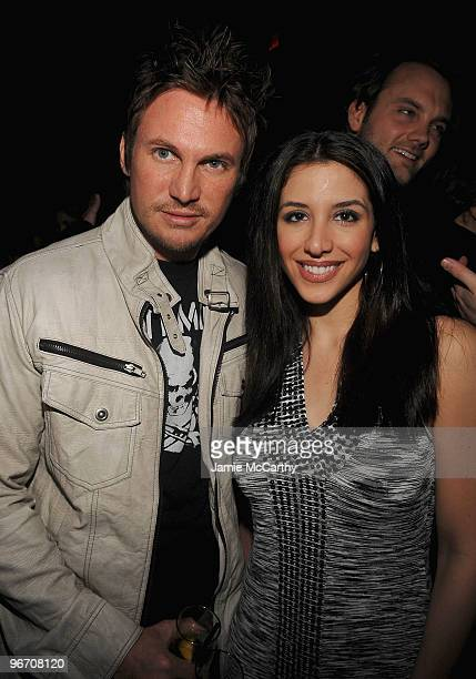 Scott Hockens and Diana Falzone attend Guns N' Roses Live At Nur Khan's Rose Bar Sessions presented by DeLeon Tequila at Gramercy Park Hotel on...
