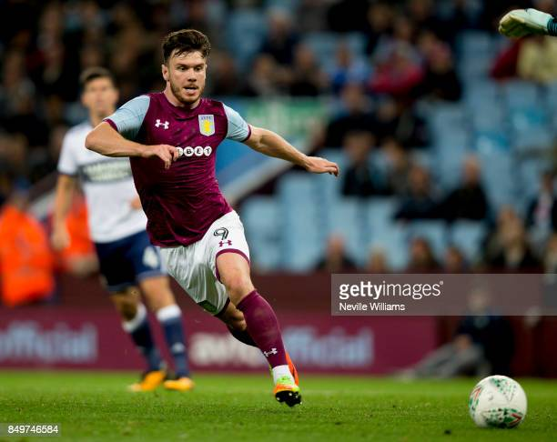 Scott Hogan of Aston Villa during the Carabao Cup Third Round match between Aston Villa and Middlesbrough at the Villa Park on September 19 2017 in...