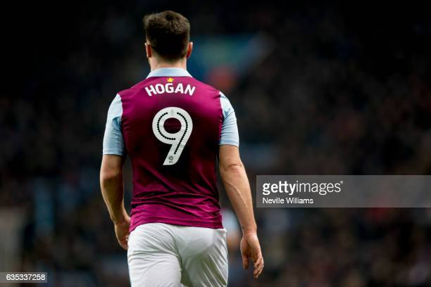 Scott Hogan of Aston Villa during the Sky Bet Championship match between Aston Villa and Barnsley at Villa Park on February 14 2017 in Birmingham...