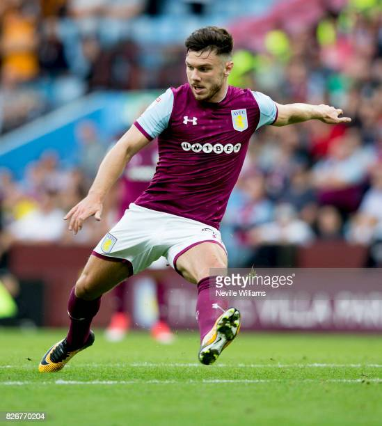 Scott Hogan of Aston Villa during the Sky Bet Championship match between Aston Villa and Hull City at Villa Park on August 05 2017 in Birmingham...