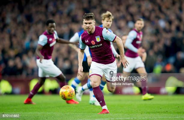 Scott Hogan of Aston Villa during the Sky Bet Championship match between Aston Villa and Sheffield Wednesday at Villa Park on November 04 2017 in...