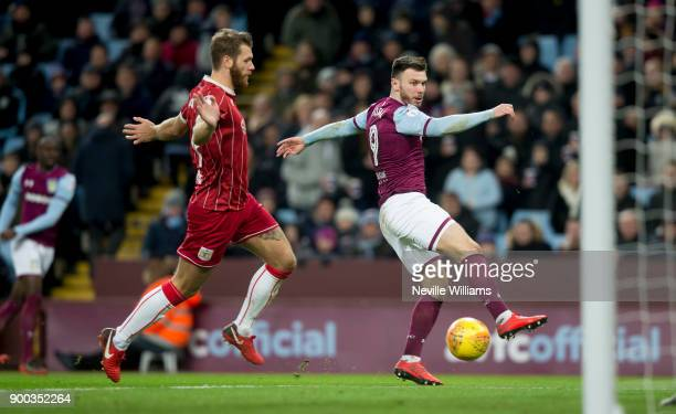 Scott Hogan of Aston Villa during the Sky Bet Championship match between Aston Villa and Bristol City at Villa Park on January 01 2018 in Birmingham...