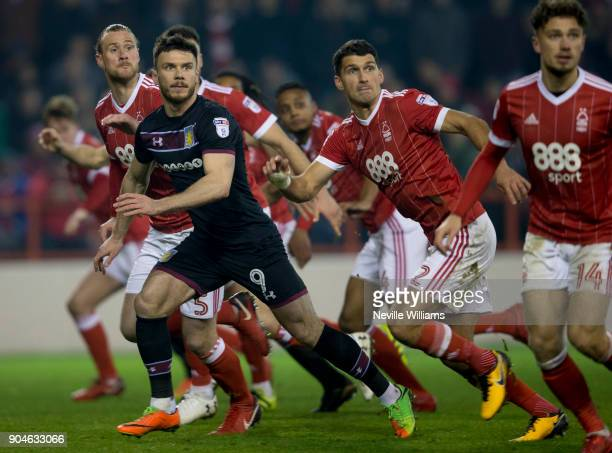 Scott Hogan of Aston Villa during the Sky Bet Championship match between Nottingham Forest and Aston Villa at the City Ground on January 13 2018 in...