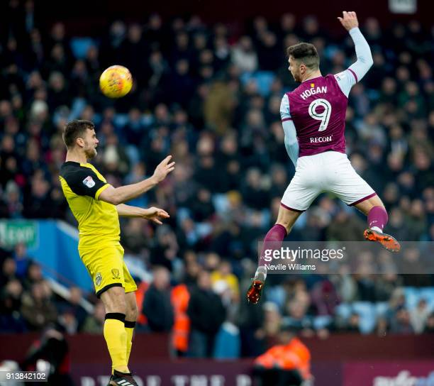 Scott Hogan of Aston Villa during the Sky Bet Championship match between Aston Villa and Burton Albion at Villa Park on February 03 2018 in...