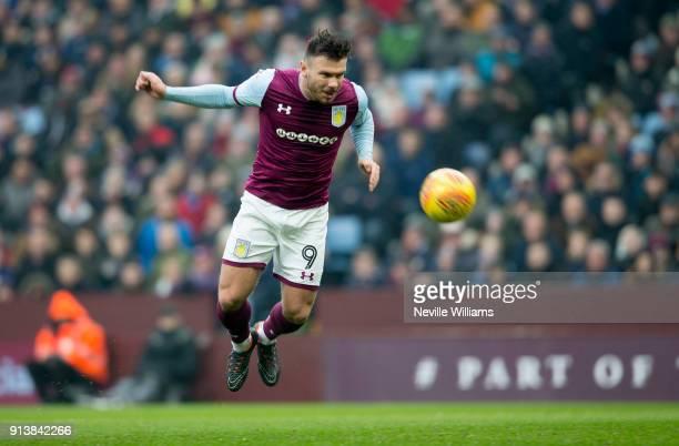 Scott Hogan of Aston Villa during the Sky Bet Championship match between Aston Villa and Burton Albion at Villa Park on February 03 2018 in...