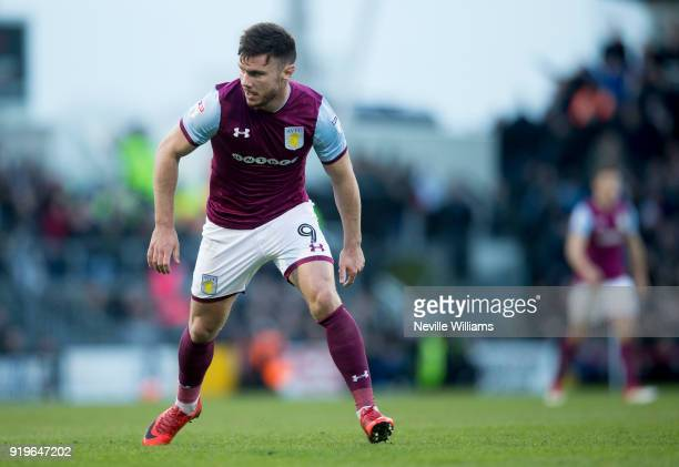 Scott Hogan of Aston Villa during the Sky Bet Championship match between Fulham and Aston Villa at Craven Cottage on February 17 2018 in London...