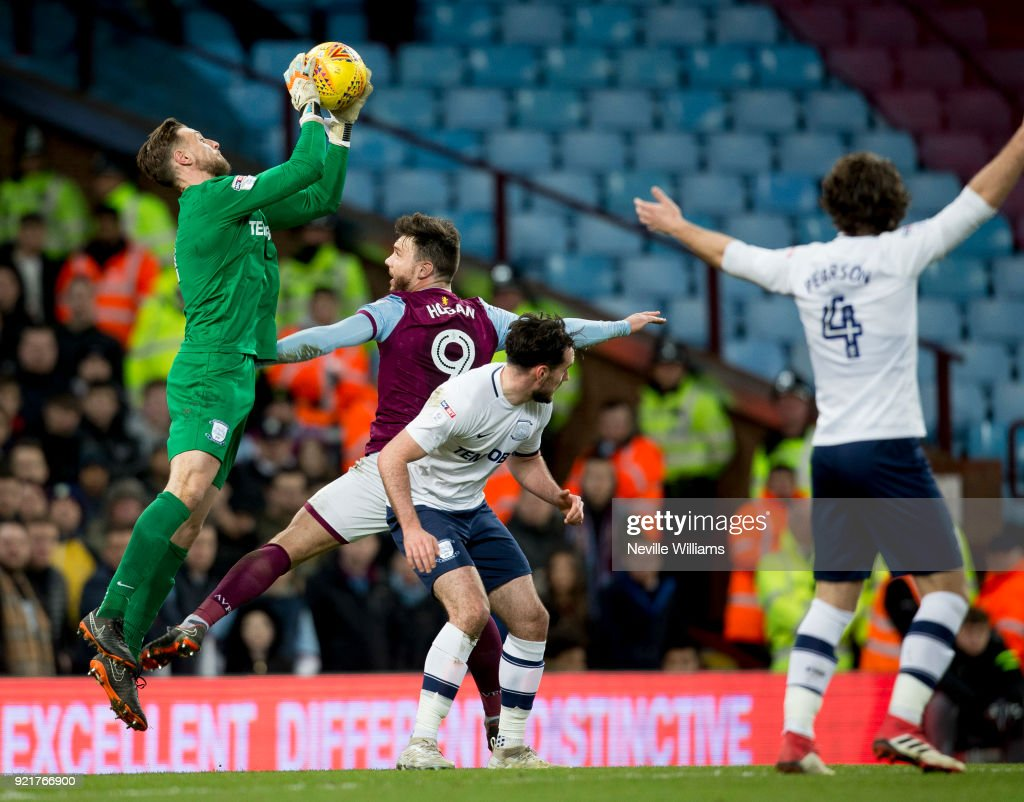 Scott Hogan of Aston Villa during the Sky Bet Championship match between Aston Villa and Preston North End at Villa Park on February 20, 2018 in Birmingham, England.