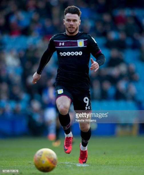 Scott Hogan of Aston Villa during the Sky Bet Championship match between Sheffield Wednesday and Aston Villa at Hillsborough on February 24 2018 in...