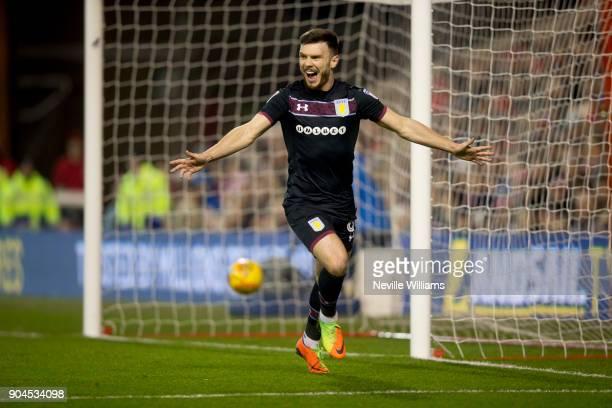 Scott Hogan of Aston Villa scores for Aston Villa during the Sky Bet Championship match between Nottingham Forest and Aston Villa at the City Ground...