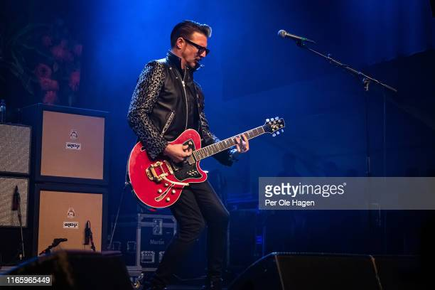 Scott Holiday of Rival Sons performs on stage at The Notodden Blues Festival on August 3 2019 in Notodden Norway